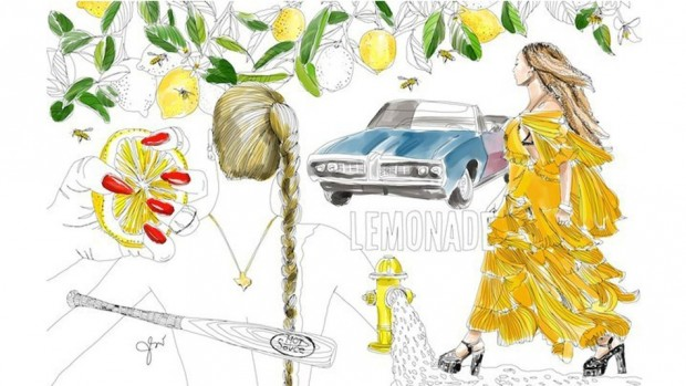 Illustrator Jessie Kanelos Weiner recreated scenes from Beyoncé's full-length visual album, Lemonade.