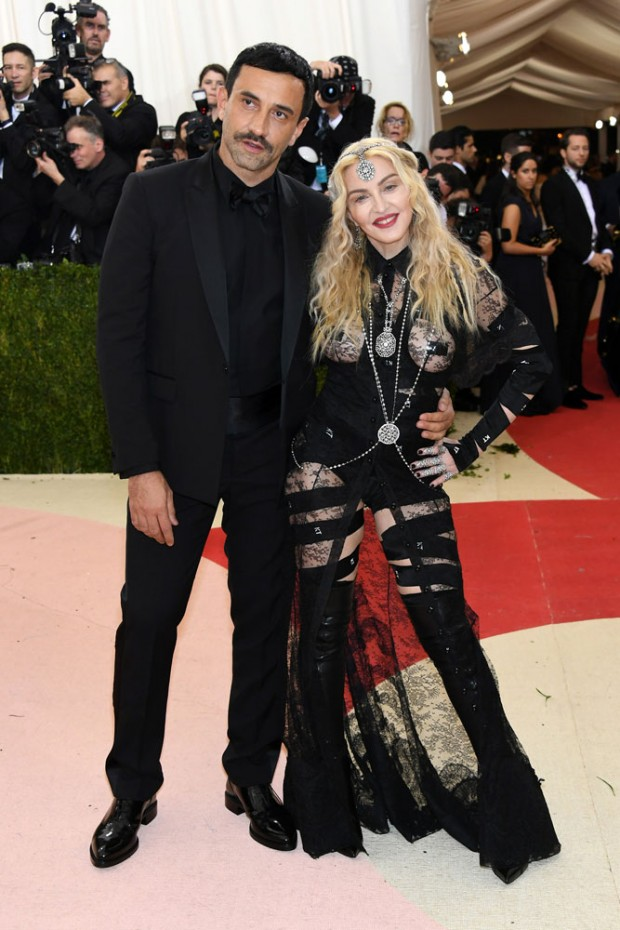 Madonna and Riccardo Tisci at the 2016 Met Gala.