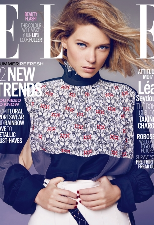 Léa Seydoux Brings the Sex Appeal on UK ELLE's June 2016 Cover (Forum Buzz)