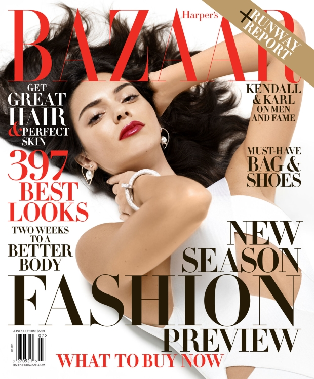 US Harper's Bazaar June/July 2016 : Kendall Jenner by Karl Lagerfeld