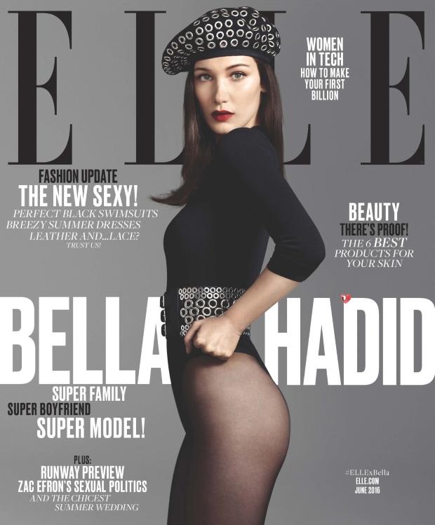 US Elle June 2016 : Bella Hadid by Terry Tsiolis