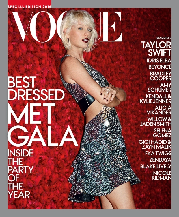 US Vogue Special Edition Met Gala 2016 : Taylor Swift by Theo Wenner