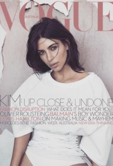 Kim Kardashian Wears Alex Perry on the Cover of Vogue Australia's June Issue