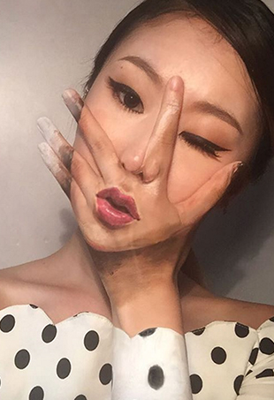 22-year-old South Korean makeup artist Dain Yoon uses bodies as canvases to create trippy, overlapping works of art that blend reality with illusion.