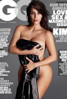 Kim Kardashian Strips Down for GQ's New Cover