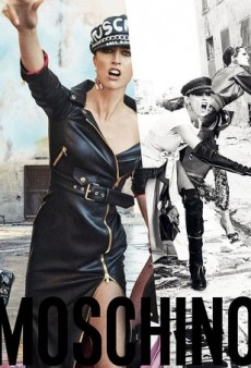 Raquel Zimmermann, Stella Tennant, Anja Rubik and Anna Cleveland Cause a Riot in Moschino's Fall Ad Campaign (Forum Buzz)