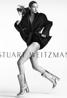Gigi Hadid Goes Solo as the Face of Stuart Weitzman for Fall 2016 (Forum Buzz)