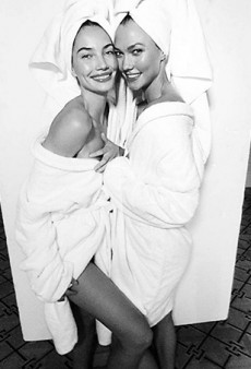 Mario Testino's Towel Series Goes 3D With Karlie Kloss and Lily Aldridge