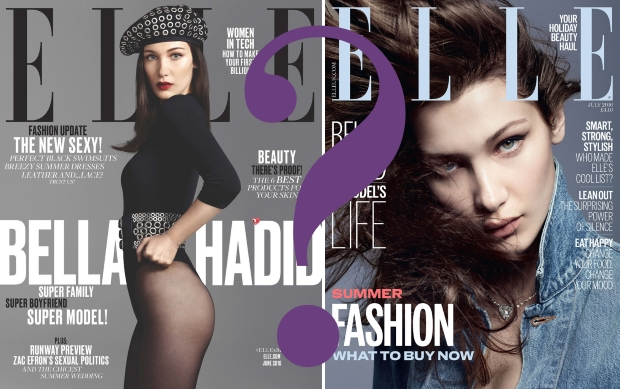 UK Elle July 2016 : Bella Hadid by Terry Tsiolis