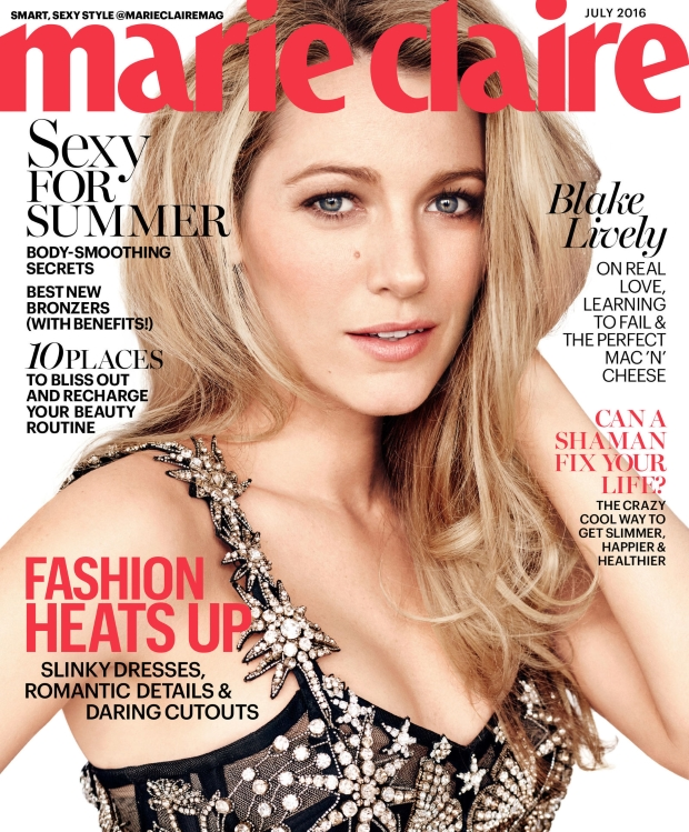 US Marie Claire July 2016 : Blake Lively by Beau Grealy