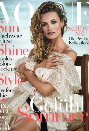Vogue Germany July 2016 : Edita Vilkeviciute by Boo George
