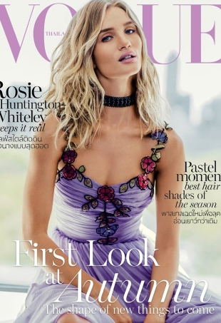 Vogue Thailand July 2016 : Rosie Huntington-Whitley by Russell James
