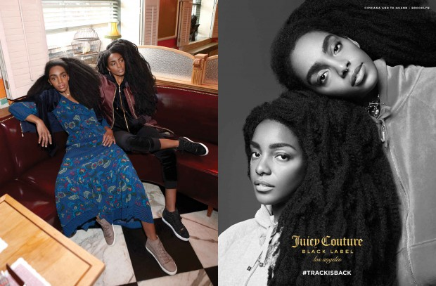 TK Wonder and Cipriana Quann star in Juicy Couture's #TRACKISBACK campaign.