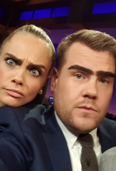 "Watch: Cara Delevingne ""Drops the Mic"" on James Cordon and Dave Franco"