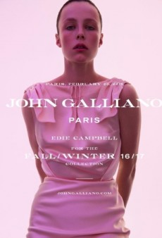 Edie Campbell Lands Her Third Campaign of the Season as the New Face of John Galliano (Forum Buzz)