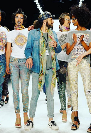 Jeans for Refugee's January 2016 runway show.