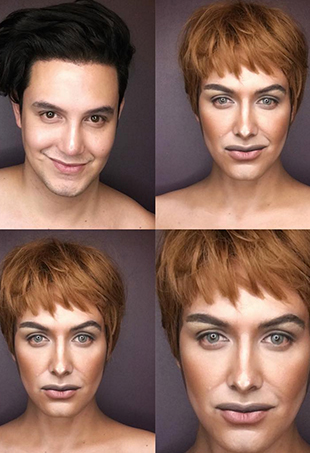 While his 1.7 million and counting followers look on via Instagram, Paolo Ballesteros recreates Westeros' leading ladies using his own face as the canvas.