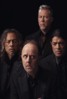 Metallica Stars in New Brioni Fashion Shoot