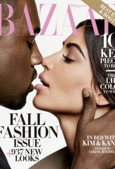 Kim Kardashian and Kanye West Kiss on the September Cover of Harper's Bazaar (Forum Buzz)