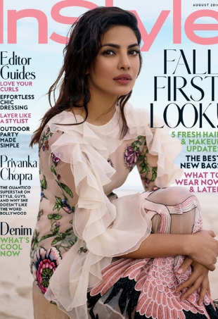 US InStyle August 2016 : Priyanka Chopra by Thomas Whiteside