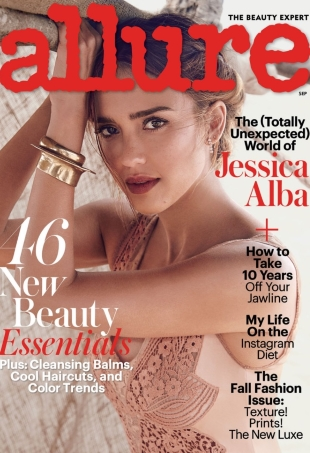 Allure September 2016 : Jessica Alba by Will Davidson