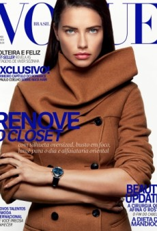 Adriana Lima Stars on Vogue Brazil's Dated (But Gorgeous) Cover for August 2016 (Forum Buzz)