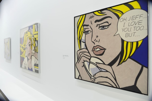 An exhibition featuring work by late American pop artist Roy Lichtenstein has opened at Centre Georges Pompidou. Through a selection of over 100 major works, the Centre Pompidou will present the first complete Roy Lichtenstein retrospective in France. The exhibition runs until 4 November (13). Lichtenstein died in 1997 at the age of 73. Where: Paris, France When: 02 Jul 2013 Credit: WENN.com **Only available for publication in UK, USA**