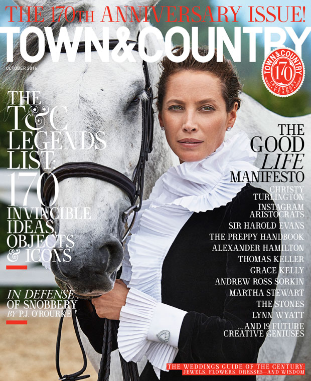 Christy Turlington Stars on Town & Country's October Issue