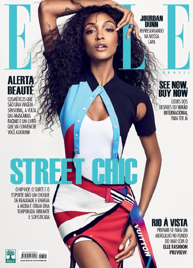 Elle Brazil October 2016 : Jourdan Dunn by Mark Abrahams