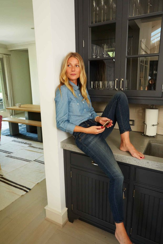 Gwyneth Paltrow models Goop Label.
