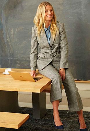 Gwyneth Paltrow models Goop Label.
