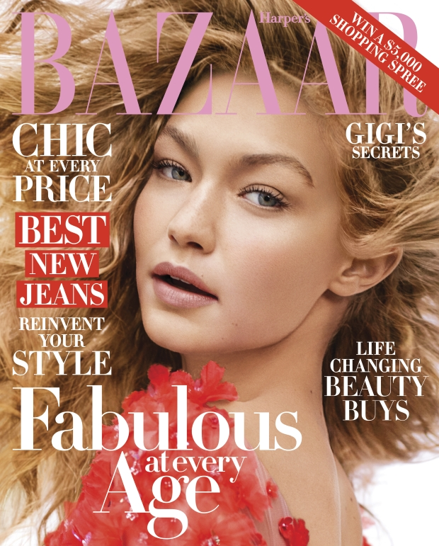 US Harper's Bazaar October 2016 : Gigi Hadid by Karl Lagerfeld