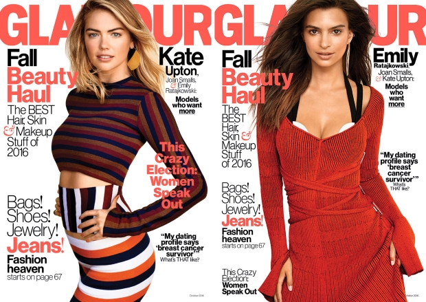 US Glamour October 2016 : Joan Smalls, Kate Upton & Emily Ratjakowski by Carter Smith
