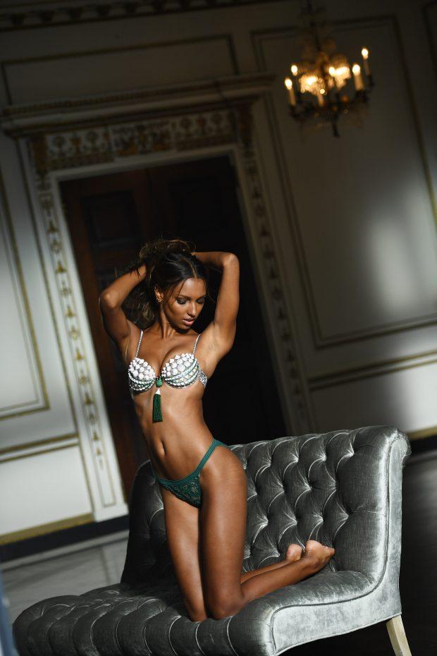 Jasmine Tookes in the 2016 Victoria's Secret Fantasy Bra.