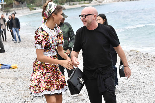 Zendaya and Domenico Dolce; Image: Courtesy of Dolce&Gabbana