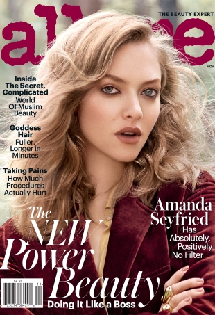Allure November 2016 : Amanda Seyfried by Scott Trindle