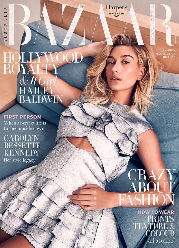Harper's Bazaar Australia November 2016 : Hailey Baldwin by Darren McDonald