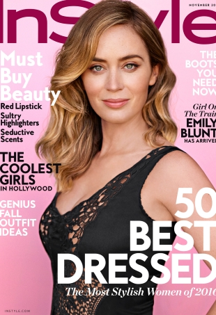 US InStyle November 2016 : Emily Blunt by Thomas Whiteside