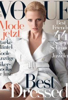 Lara Stone Does Her Best Sharon Stone Impression on Vogue Germany's Sexy November Cover (Forum Buzz)