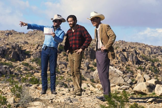 Tom Ford (in an en-pointe Canadian tux) directs Jake Gyllenhaal and Michael Shannon.