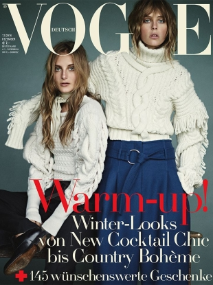 Vogue Germany December 2016 : Edie & Olympia Campbell by Boo George