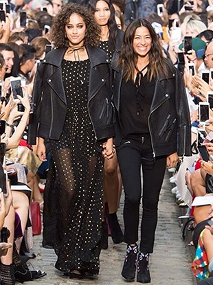 """Rebecca Minkoff's September 2016 """"Runway to Retail"""" show."""
