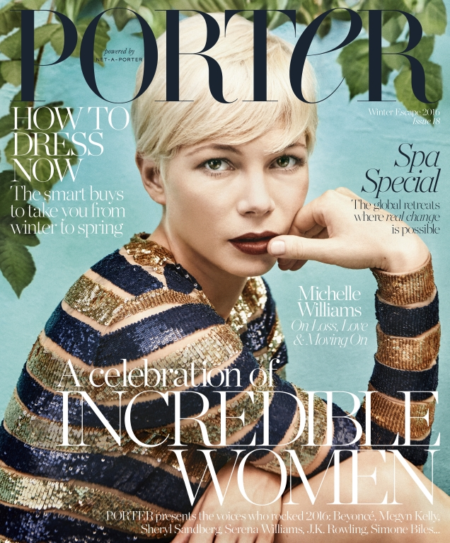 Porter #18 Winter Escape 2016 : Michelle Williams by Ryan McGinley