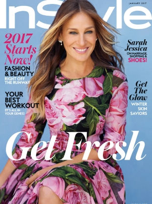 US InStyle January 2017 : Sarah Jessica Parker by Thomas Whiteside