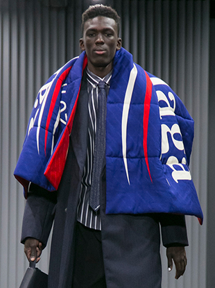 Balenciaga's latest menswear collection pays tribute to Bernie Sanders.