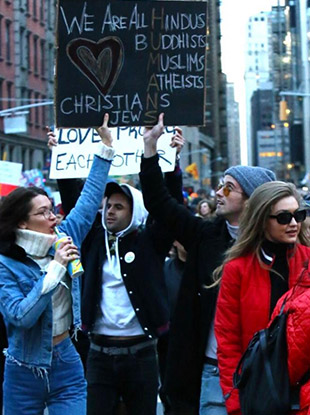 Naeem Khan, Diane Von Furstenberg, Gigi and Bella Hadid and more fashion folk have taken to social media to voice their support for #nobannowall.