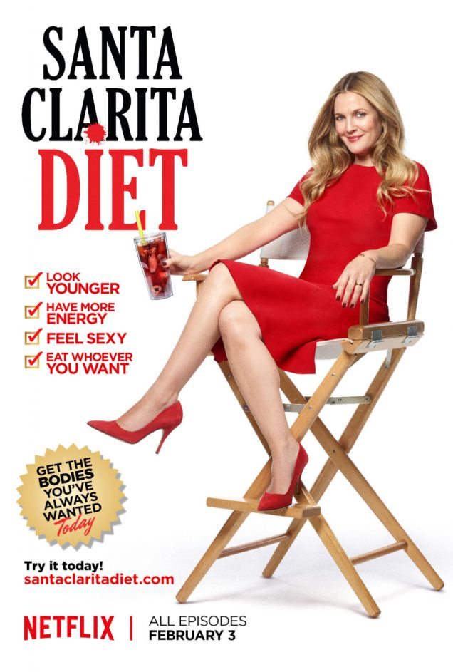 Drew Barrymore's new Netflix series, Santa Clarita diet, looks hilarious and terrifying.
