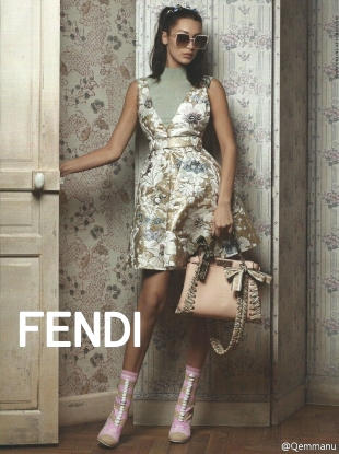 Fendi S/S 2017 : Bella Hadid by Karl Lagerfeld