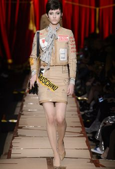 Moschino's Fall 2017 Runway Was Literally Garbage
