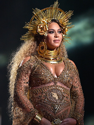 Beyoncé at the 59th Annual Grammy Awards.
